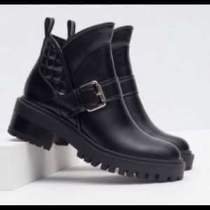 NEW/NEVER WORN Zara Moto Combat Boots